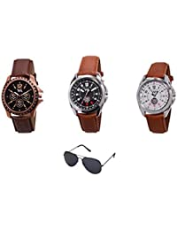 Watch Me Gift Combo Set Of Analog Watches For Men And Boys AWC-008-AWC-009-AWC-012-WMG-002 AWC-008-AWC-009-AWC...