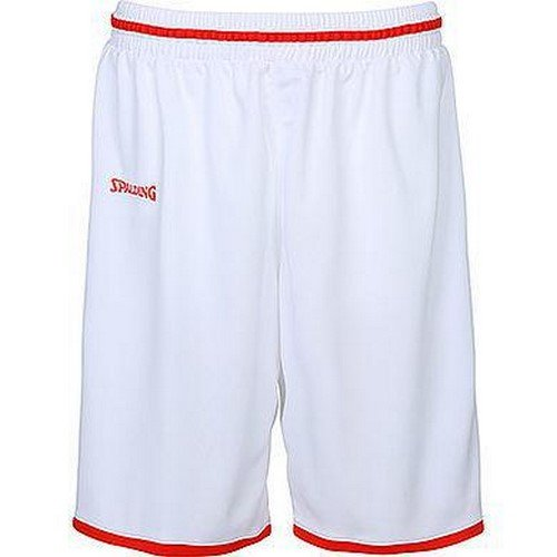 Spalding Kinder Move Shorts, weiß/Rot, 140