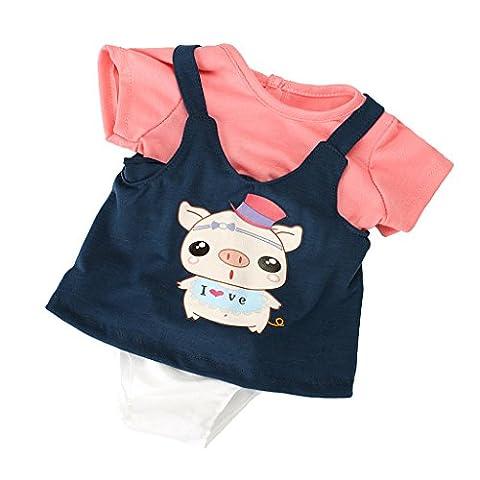 MagiDeal Ensemble Vêtements Robe Jumpsuit Combinaison Set Pour 18inch Poupée American Girl Dolls - Divers - #9