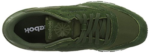 Reebok Classic Leather Clip Ele, Sneakers basses homme Vert (Moss Green/Primal Green/Canopy Green)