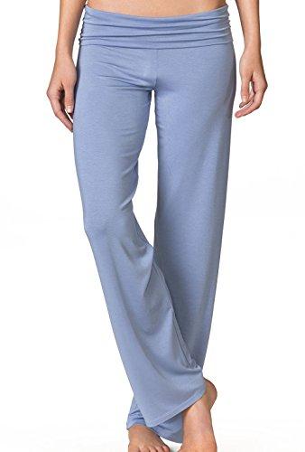 Calida Damen Schlafanzughose Favourites, Einfarbig glaucous blue melé