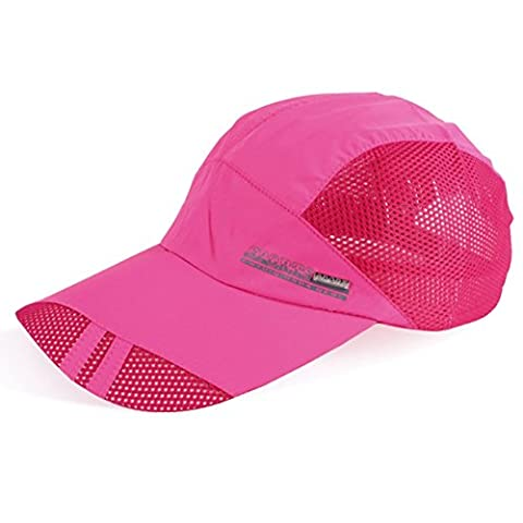 SLBGADIEME Quick Drying Breathable Running Outdoor Hat Cap Only 2 Ounces 10 Colors (Classic series,Pink)