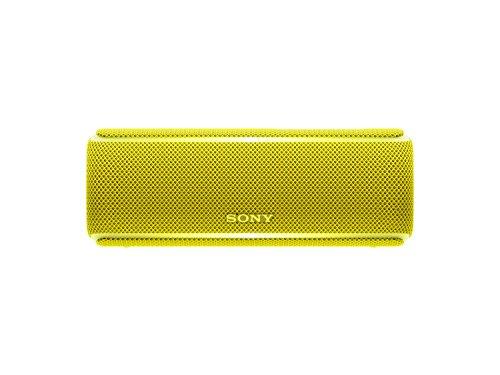 Sony SRS-XB21 Altoparlante Wireless Portatile, Extra Bass, Bluetooth, NFC, Resistente all'Acqua IP67, Batteria 12 ore, Funzione Live, Giallo