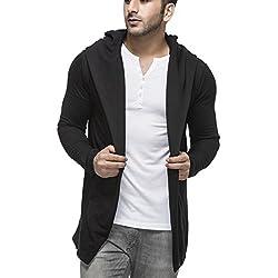 Tinted Men's Cardigan (TJ5401_Black_Large)