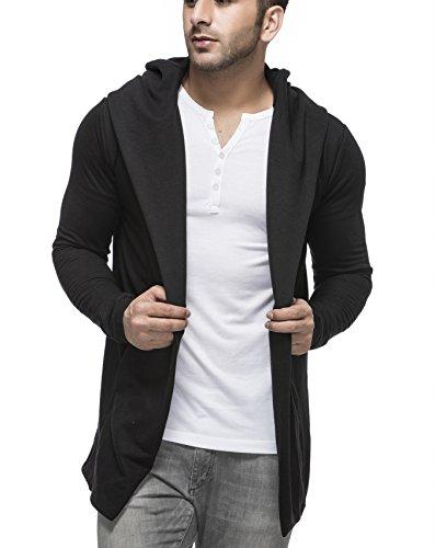 Tinted Men's Cardigan (TJ5401 Black Large)