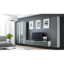 suchergebnis auf f r wohnwand h ngend wei. Black Bedroom Furniture Sets. Home Design Ideas