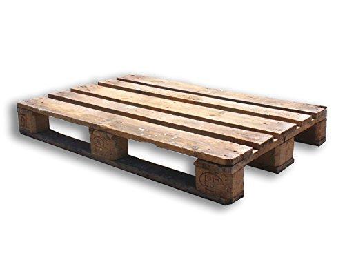 Oedim Palet Abierto Flojo Semiusado de madera | Color Madera Natural | Reciclados o Reutilizados | Madera | 120 x 80 cm | Para hacer un trabajo; mueble, decoración, etc.