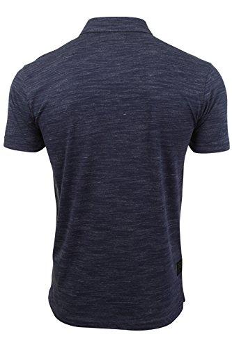 Herren Polo T-Shirt von Dissident `Dulwich`kurzärmlig Blue Space