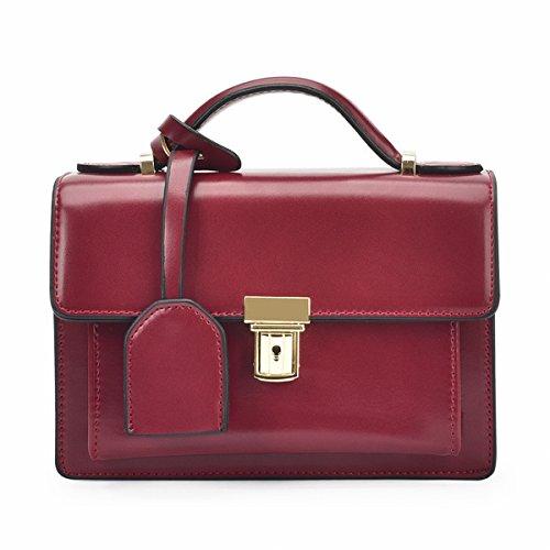 Kleine Klare Einfache Messenger Weibliche Schulter Kette Kleine Quadratische Tasche Rotwein
