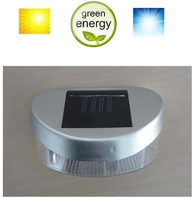 MQ LED Solar Zaunleuchte Solarleuchte Wandleuchte Solarlampe mit 2 LED´s Solarlicht von MQ-Power bei Lampenhans.de