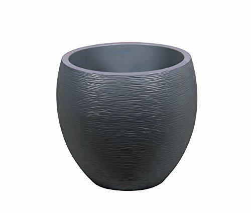 EDA Plastiques Pot EGG GRAPHIT gris antracite - 50 x 45 cm - 46 L