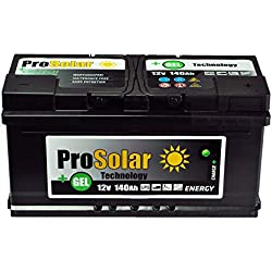 ProSolar GEL Batterie solaire gel 140 Ah 12 V au lieu de 150 Ah 120 Ah 110 Ah