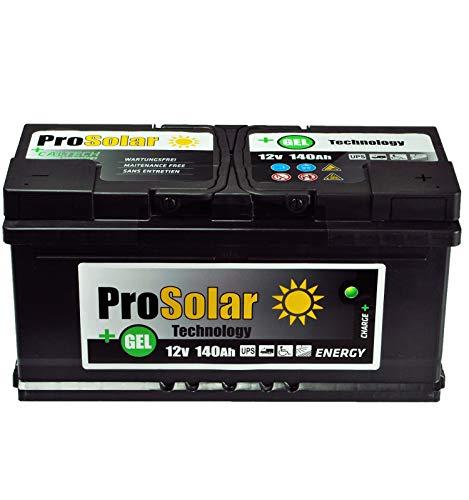 Batteria al gel da 140 Ah, 12 V, ProSolar Gel per manutenzione invece di 150 Ah, 120 Ah, 110 Ah.