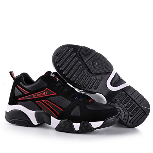 Men's Black Weaving Outdoor Comfortable Running Shoes red