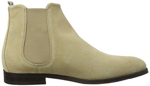 Royal Republiq Cast Classic Suede, Chelsea Boots Homme Elfenbein (Camel)