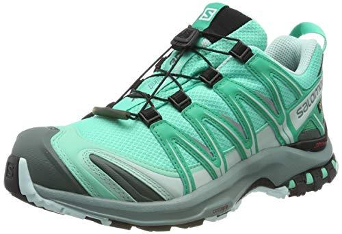 SALOMON XA PRO 3D GTX W, Scarpe da Trail Running Donna, Verde (Electric Vivid Green/Icy Morn), 37 1/3 EU