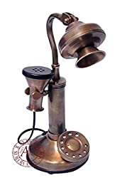 Akhandstore Home Decor Small Hans Shape Antique Telephone (NON WORKING ONLY FOR TABLE DECORATIVE)
