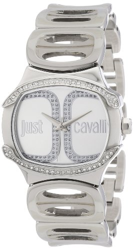 Just Cavalli R7253581502 - Reloj con correa de metal, para mujer, color blanco/plateado