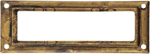 Etikettenfenster Messing Antik 29 x 80 - Qualität aus Europa seit 1998 (Kommode Französische Antike)
