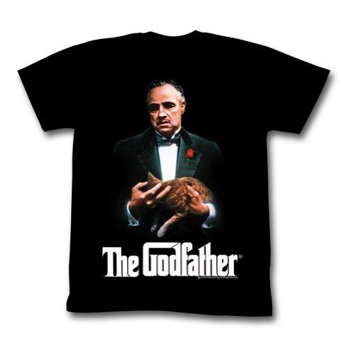 The Godfather - Herren New G T-Shirt in Schwarz, Medium, Black