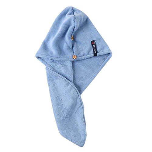 Absorbierende Twist Turban, lange Haare wickeln, schnell trocknende Haarkappe, blau