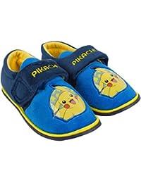 Pokemon - Zapatillas de estar por casa para niño azul azul