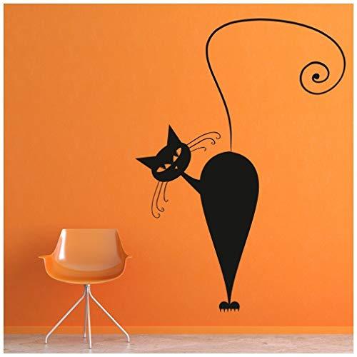 ze Wandtattoo Halloween Wand Sticker Kinder Wohnkultur verfügbar in 5 Größen und 25 Farben Mittel Blatt Grün ()