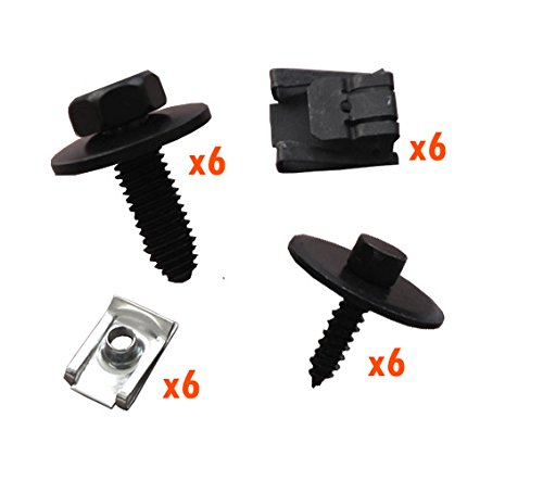 myshopx C110 Set Métal Fixation unterfahr Protection unterboden Protection du moteur Clips pince Vis fixation Kit de montage pression rivets schlagniete Rivet en plastique Clips unterfahr Protection Clips de fixation pinces clips de fixation