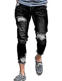 86195d0b0722 HaiDean Jeans Uomo Jeans Strappati Skinny Jeans Elasticizzati Fit Casual  Moderna Jeans Vintage Denim Pantaloni Denim