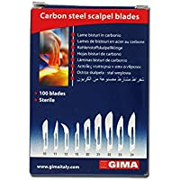 razormed 27006Gima cuchillas de acero carbono, N22, estéril (100unidades)