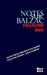 Notes sur Balzac