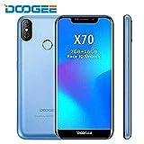 DOOGEE X70 - Android 8.1 5.5 Zoll Bildschirm Smartphone, 4000mAh Akku, 2 GB / 16 GB, Dual Rear Kameras, Gesichtserkennung + Fingerabdruck SIM Free Handy (Blau)