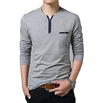 Sixeen Men's Cotton Self Design Tshirt