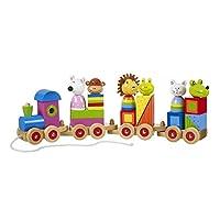 Orange Tree Toys Animal Puzzle Train,