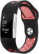 Fitbit Charge 2 Band, Hanlesi Silica gel Soft Silicone Adjustable Fashion Replacement Sport Strap Band for Fitbit Charge 2 Smartwatch Heart Rate Fitness Wristband