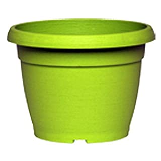 VASO SIMILCOTTO Brushed Round Lime Green 40 cm