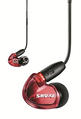 Shure SE535 In Ear Kopfhörer mit Sound Isolating Technologie, 3, 5-mm-Kabel, Fernbedienung und Mikrofon - Premium Ohrhörer mit warmem & detailreichem Klang - Limited Edition Rot thumbnail