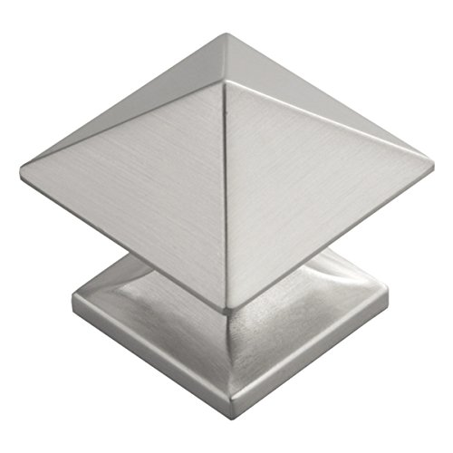 Hickory Hardware 1 quadratisch Studio Collection Schrank Knauf, Silber, P3014-SN - Collection Satin Nickel Cabinet Knob