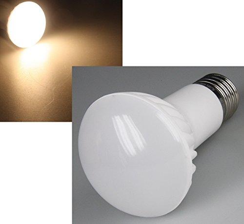 LED Reflektorstrahler, R63, 60 SMD LEDs, 160°, 550 Lumen, 230V/6W, E27, warmweiß 160 Lumen Led