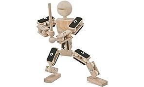 rewoodo Helden Aus Holz - Holzspielzeug Baukasten Actionfiguren Holz Metall Junge Mädchen Kinder Spielzeug ab 3 Jahren