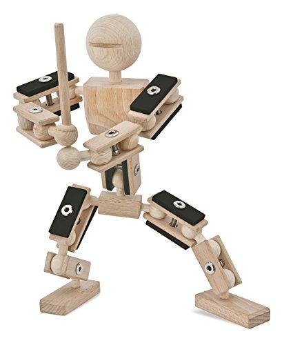 rewoodo Helden aus Holz - Ninja- Holzspielzeug 2.0 Baukasten für Actionfiguren aus Holz und Metall für Jungen und Mädchen ab 3 Jahren