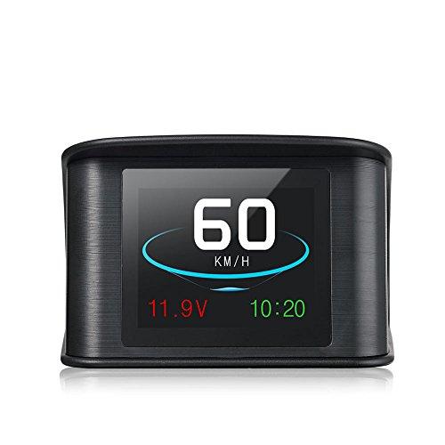 2.6' HUD GPS Vision Tête Haute Afficheur Tête Haute Intelligent Numérique LCD Compteur 9 V à 16 V Conduite Vitesse Tension Unique Distance Conduite Distance Totale Temps de Conduite Conduite Alarme de Vitesse Commutation Fréquemment entre Kilomètres et Miles