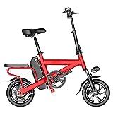 HBBenz Mini Elektrofahrräder,Tragbar Elektroauto Lithium-Batterie 12-Zoll Klapp Elektrisches Fahrrad Mit LED-Scheinwerfern, E
