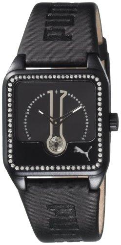 PUMA TIME 4390105 - Orologio da polso Donna, Pelle, colore: Nero