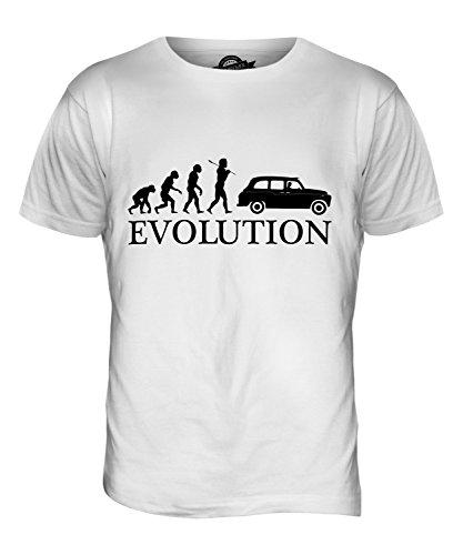CandyMix Taxi Evolution Des Menschen Herren T Shirt Weiß