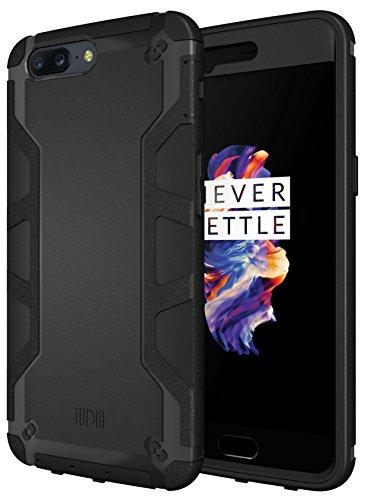 TUDIA Ultra Tough OMNIX Dual Layer Schutzhülle OnePlus 5 Ganzkorper-Schutzhulle Hülle mit Displayschutz (Matte Black)