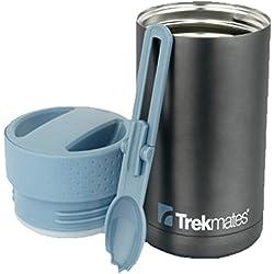 Trekmates Food Flask Thermoskanne + Löffel Edelstahl Isolierflasche Essbehälter