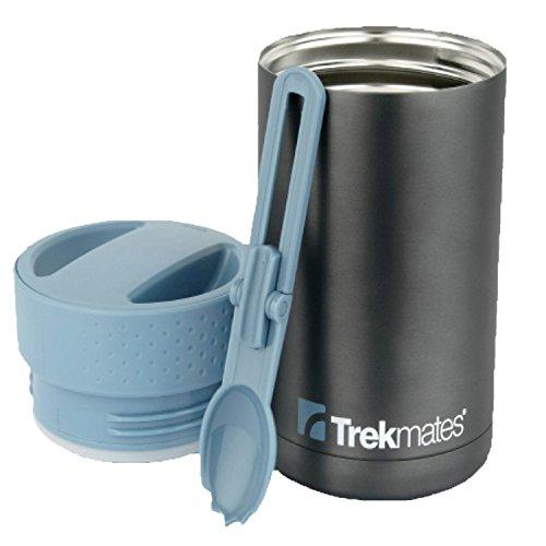 Trekmates Food flask - thermos con cucchiaio, recipiente in acciaio inox per cibo, design elegante