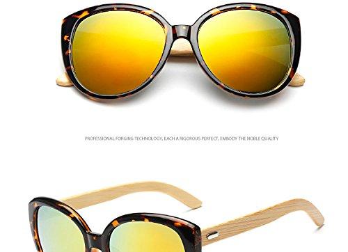 Reixus (TM) Katzenauge Holz Sonnenbrille Frauen Holzsonnenbrillen Mode Frosch-Spiegel-Weinlese Oculos Sol Klassische sunlgasses M?nner UV400