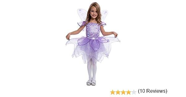 Costume Carnevale Fatina Viola dei Boschi Trilli Disney - bambina 4-6 anni   Amazon.it  Abbigliamento 2319d9fba82